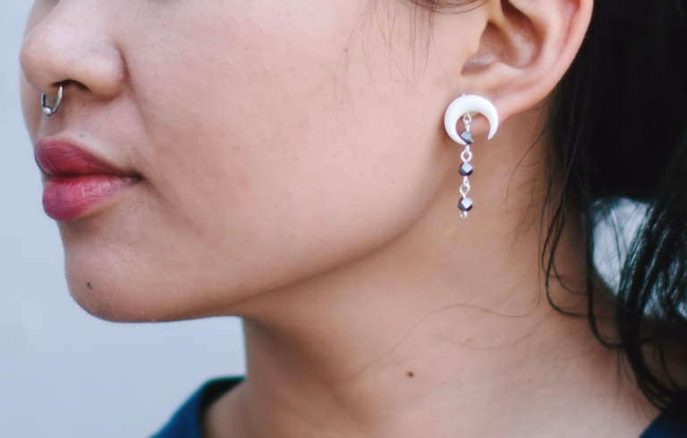 DIY: Bone Crescent Earrings