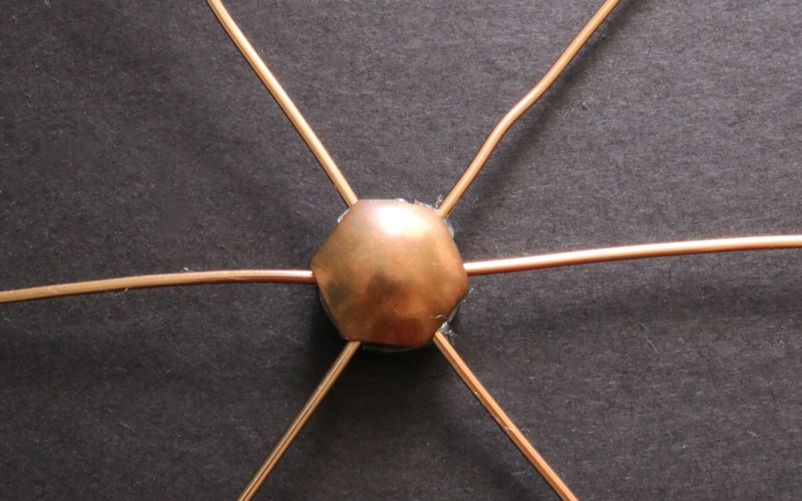DIY Copper Spiderweb Wall Hanging
