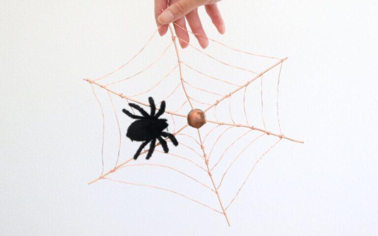 DIY Copper Spiderweb Wall Hanging