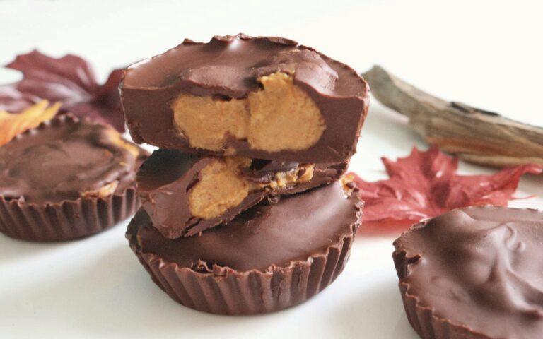 Recipe: Pumpkin Sunbutter Dark Chocolate Cups