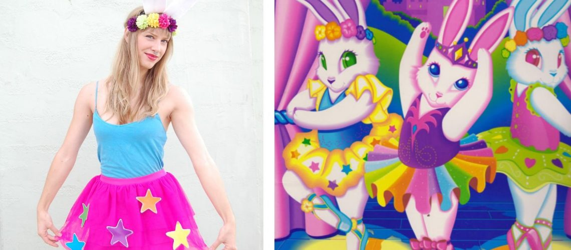 DIY Lisa Frank Costumes: Bunny Ballerina