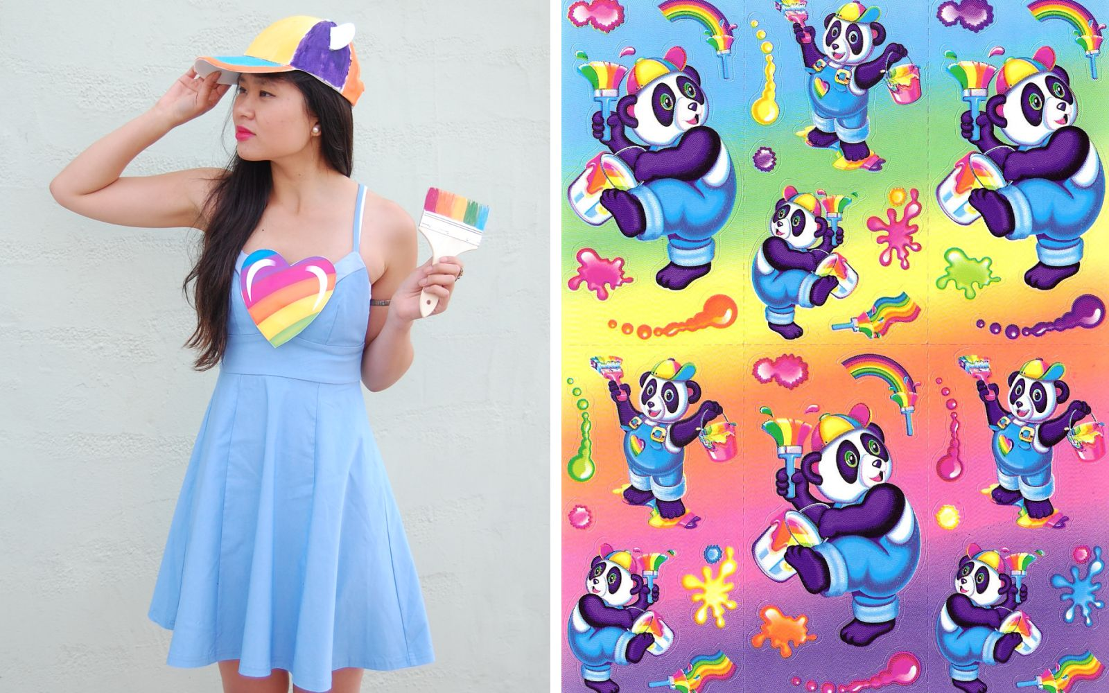 DIY Lisa Frank Costumes: Panda Painter