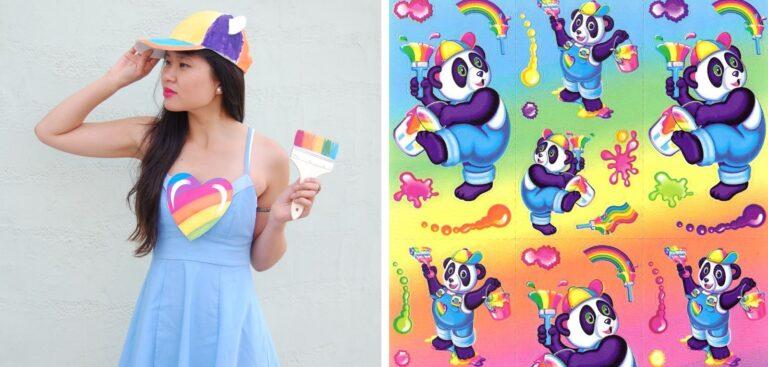 DIY Lisa Frank Costumes: Panda Painter