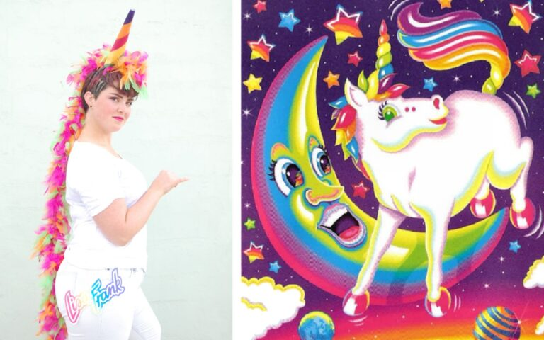 DIY Lisa Frank Costumes: Rainbow Unicorn