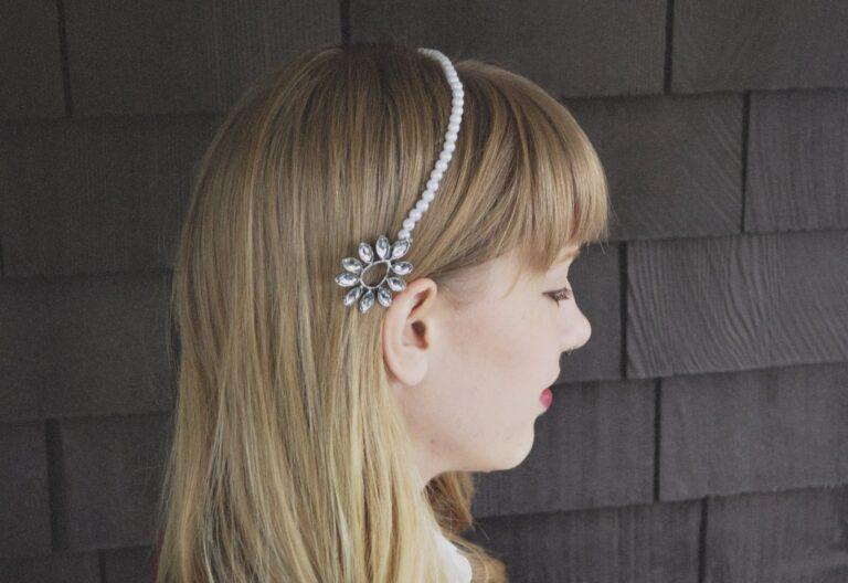 DIY: Pearl and Gem Headband