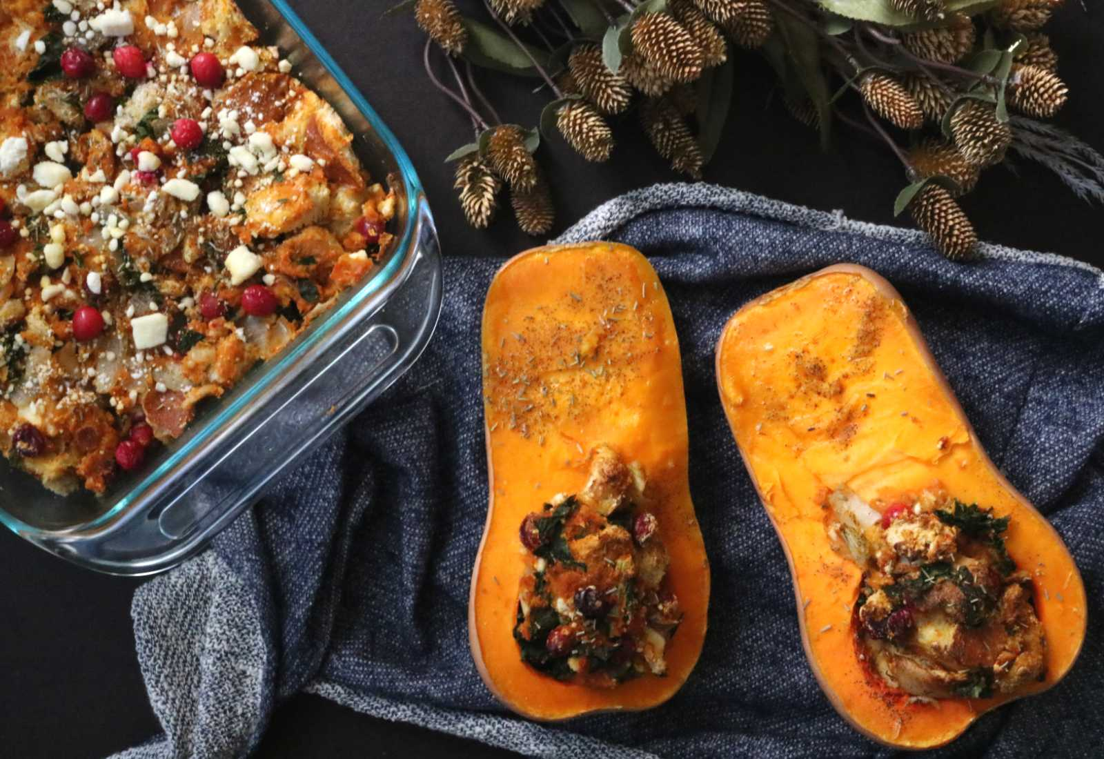 Recipe: Pumpkin Kale & Feta Stuffing