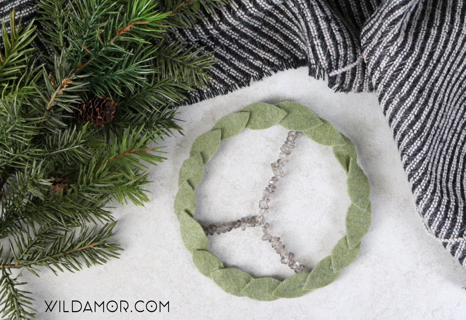 Beaded Peace Wreath DIY