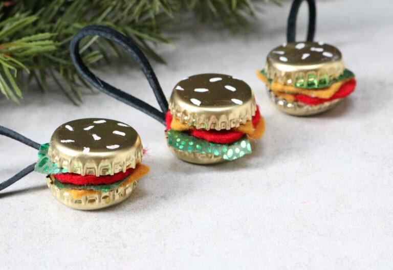 DIY Burger Ornaments
