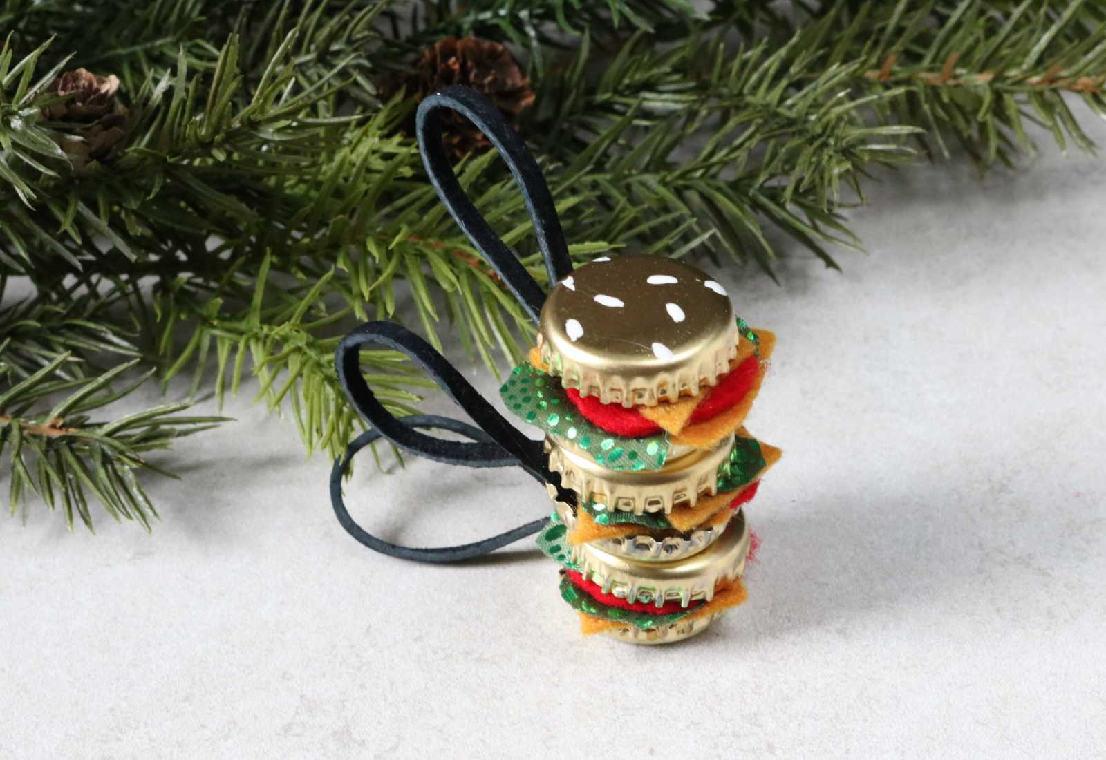 DIY Burger Ornaments