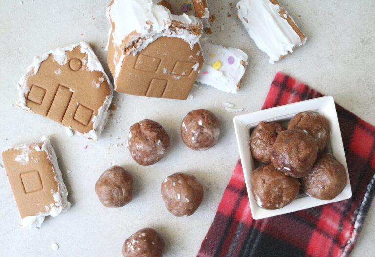 Leftover Gingerbread House Whiskey Truffles