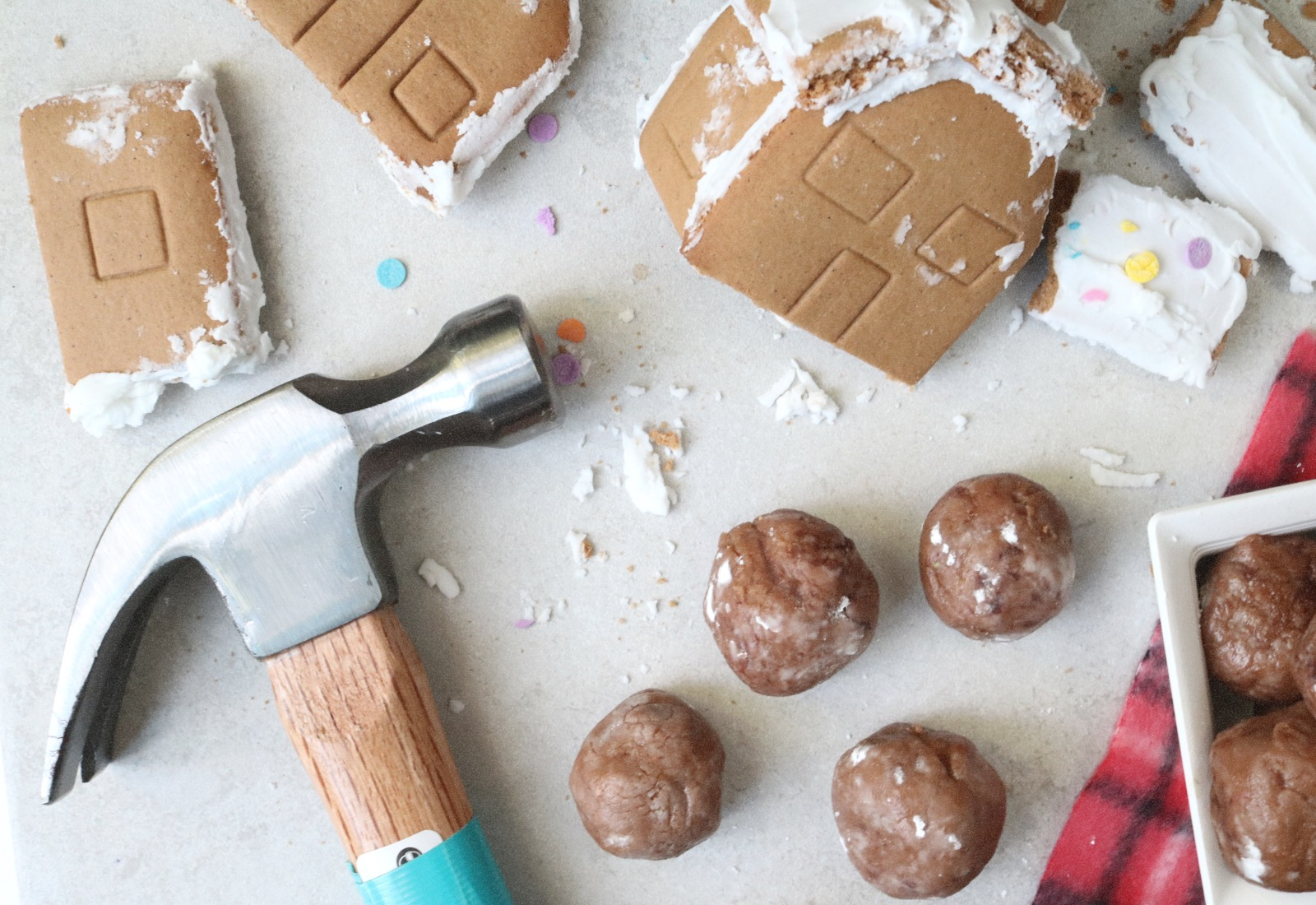 Leftover Gingerbread House Whiskey Truffles