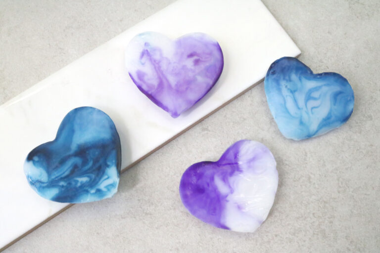 DIY Marbled Heart Soap