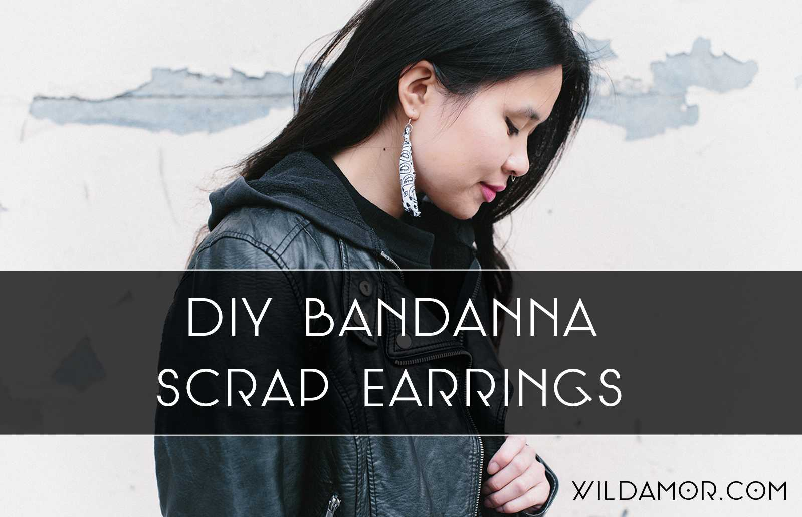 DIY Bandanna Scrap Earrings