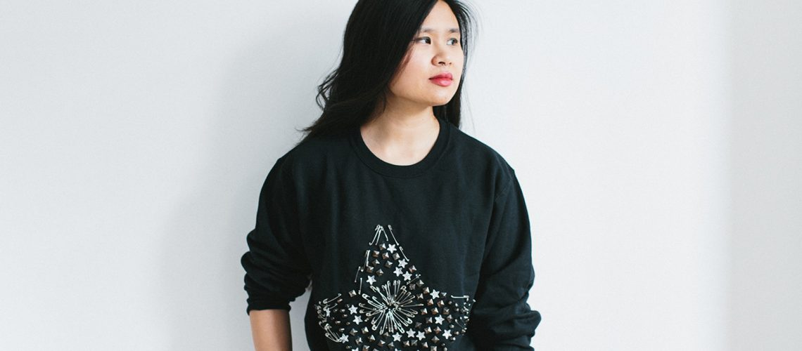 DIY Safety Pin Star Sweatshirt