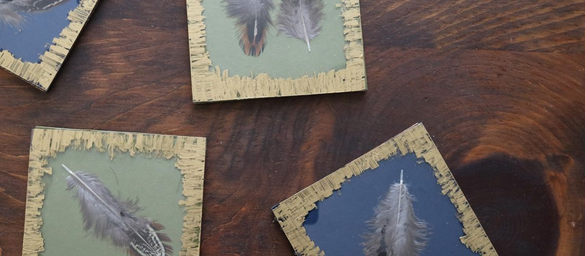 Darice DIY Feather Coasters