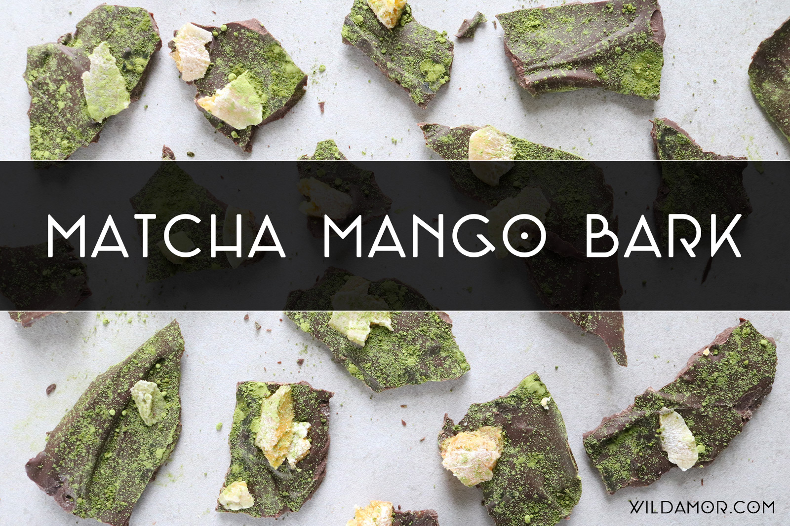 Matcha Mango Bark Recipe