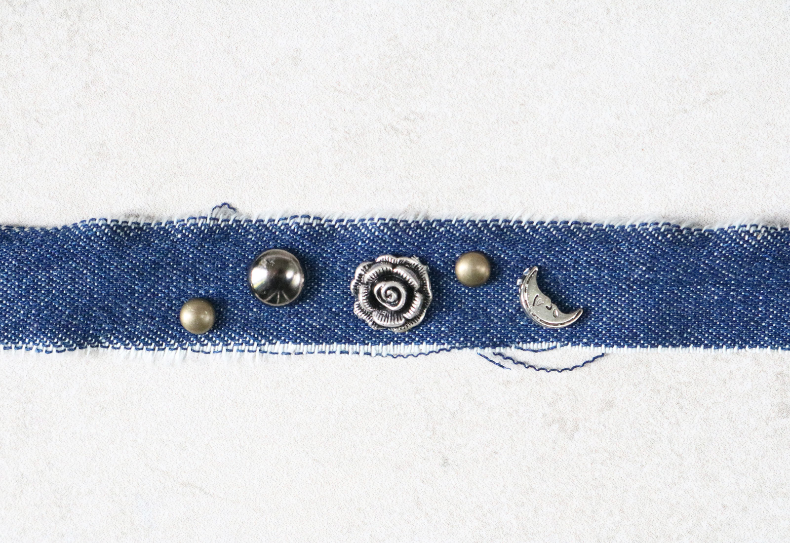 Charmed Denim Choker DIY