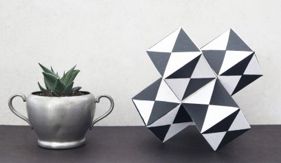 DIY Geometric Block Sculpture