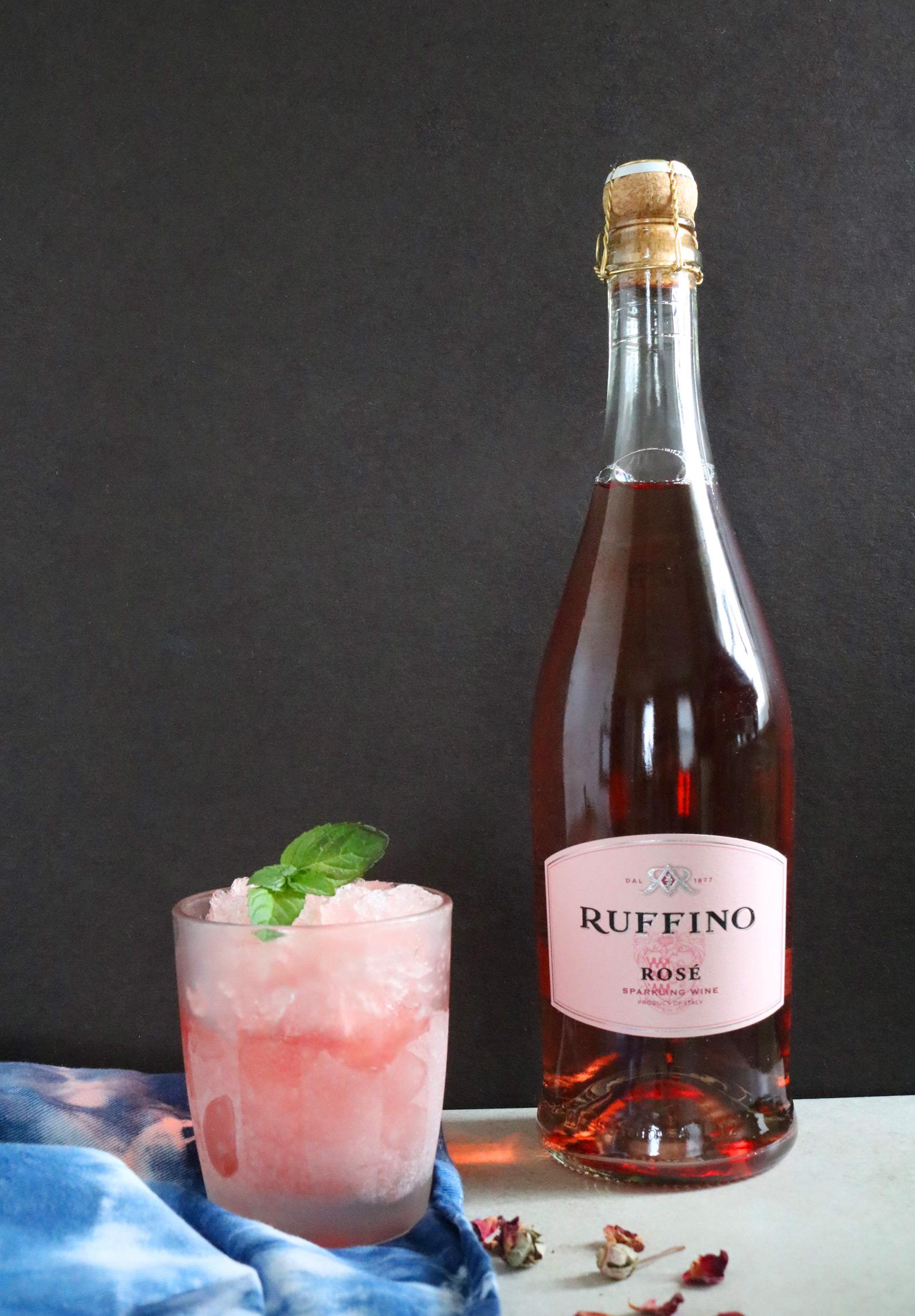 Rosé Wine & Lavender Sorbet