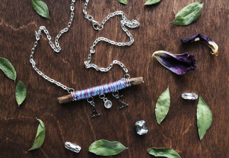 Twig Monogram Necklace DIY