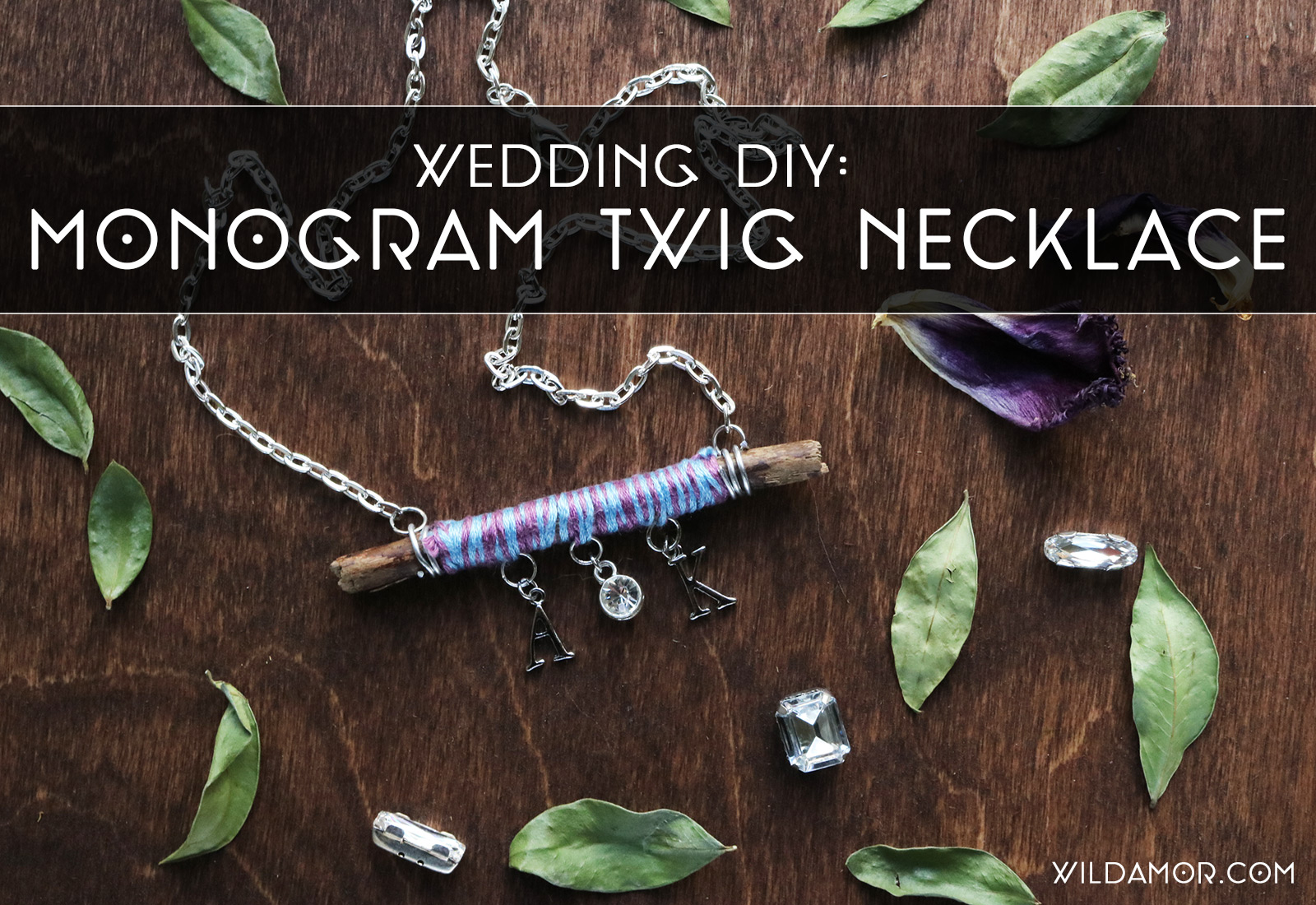 Twig Monogram Necklace DIY