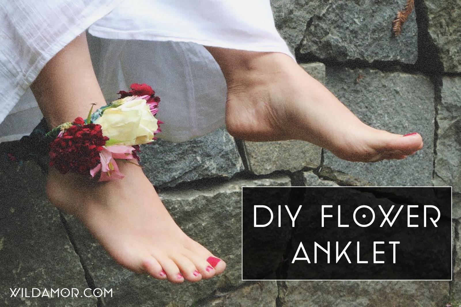 Wild Amor DIY Flower Anklet