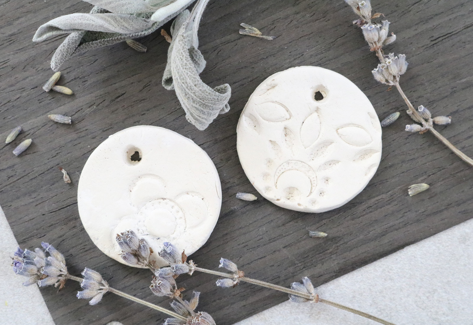 DIY Clay Diffuser Pendants
