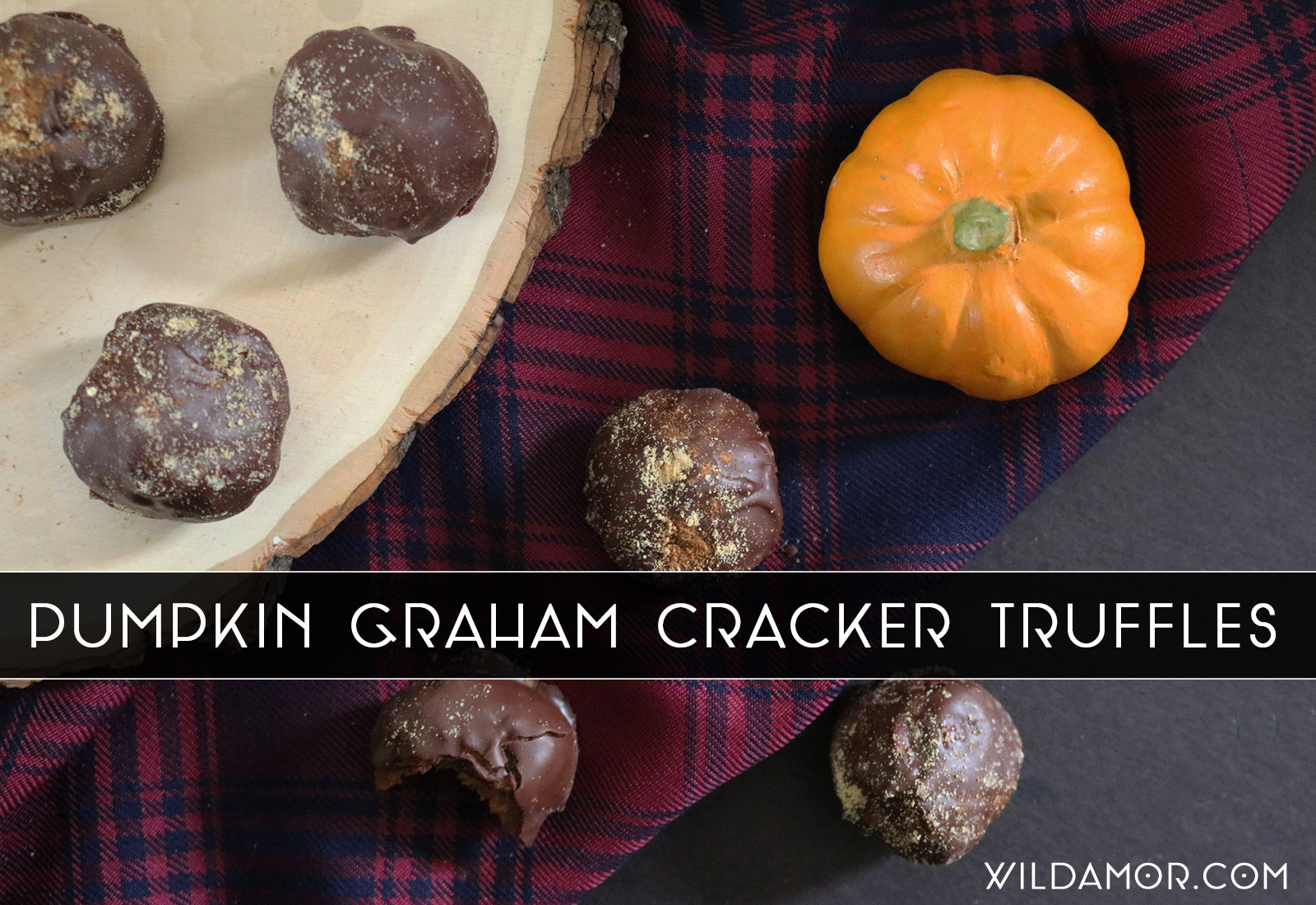 Pumpkin Graham Cracker Truffle Recipe