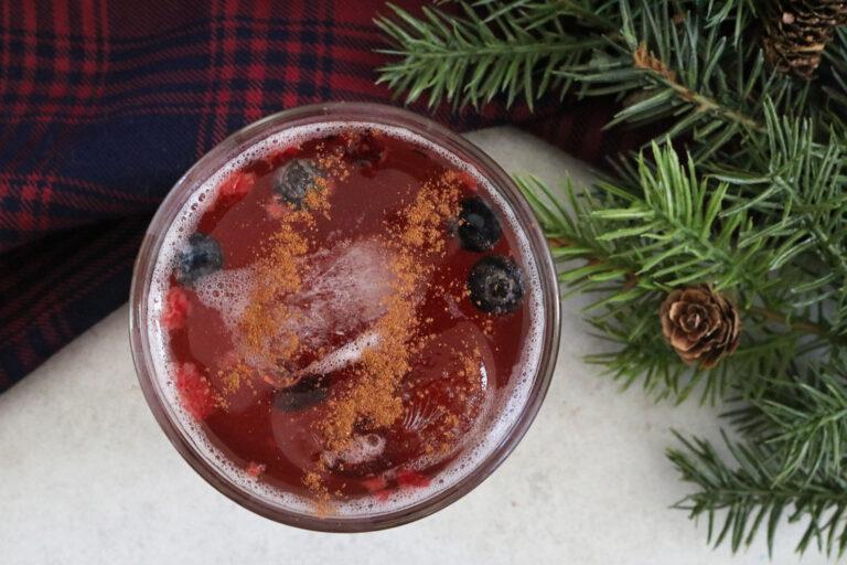 Pomegranate Chai Ginger Fizz
