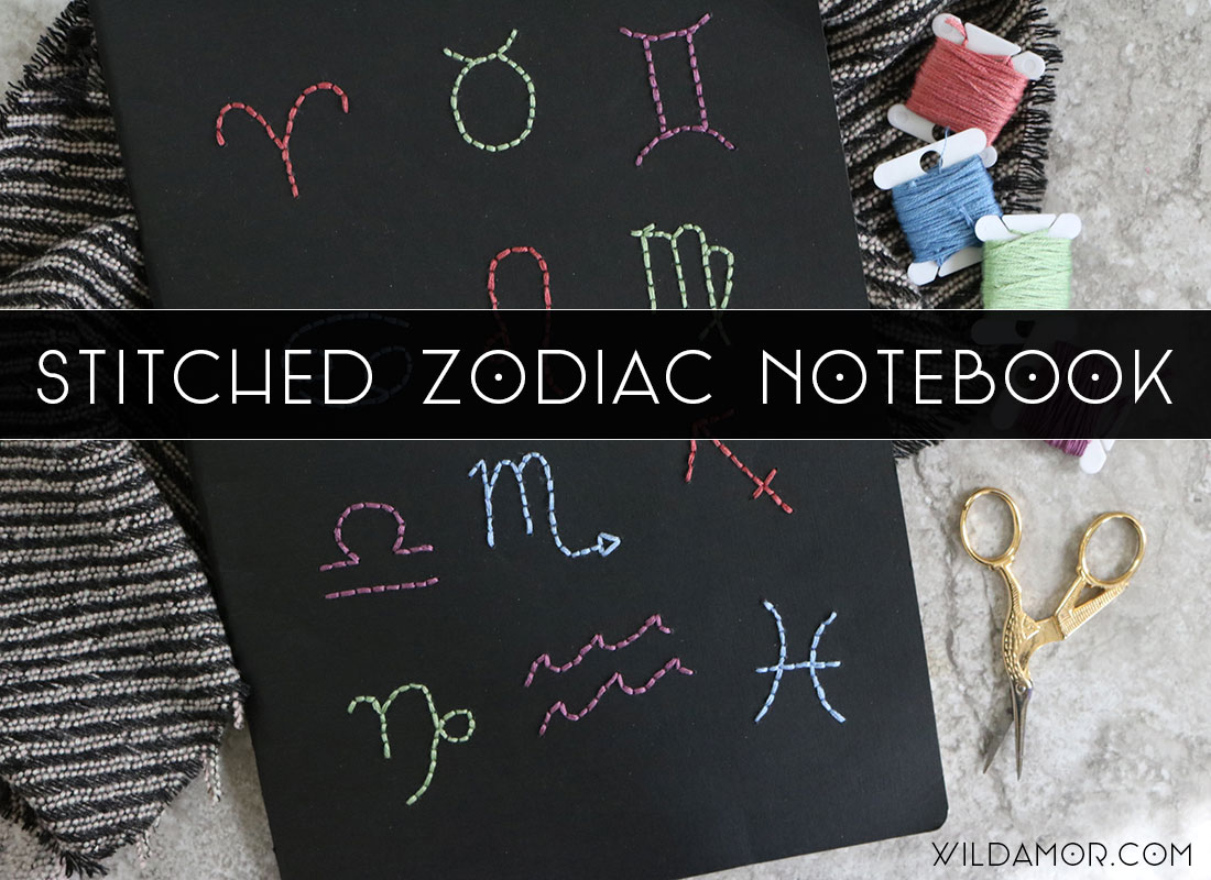 Zodiac Notebook DIY