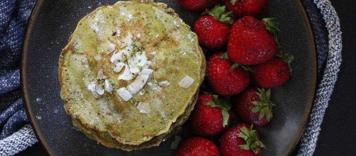 Matcha Coconut Pancakes