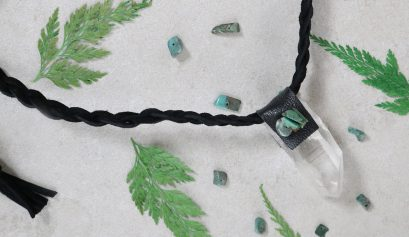 Leather-Wrapped Quartz Necklace DIY