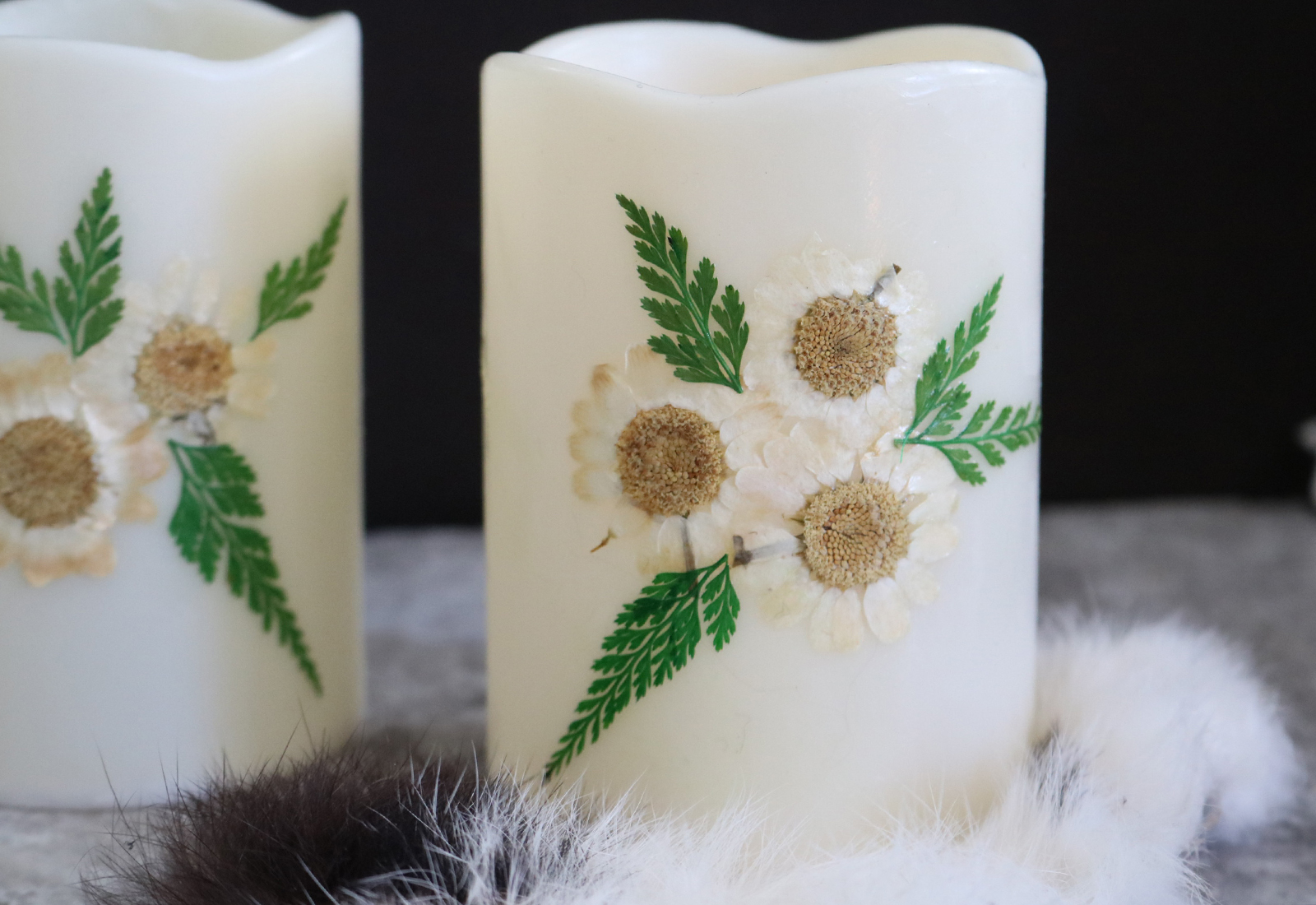 Flameless Floral Candle DIY