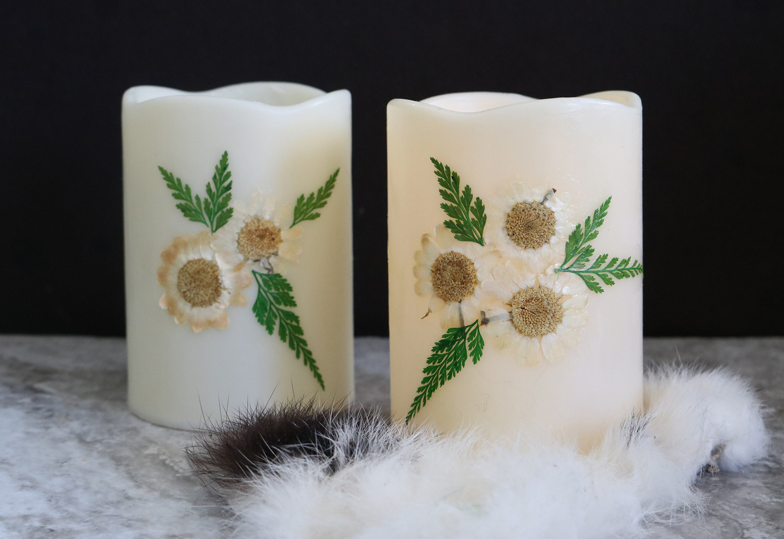Flameless Floral Candles DIY