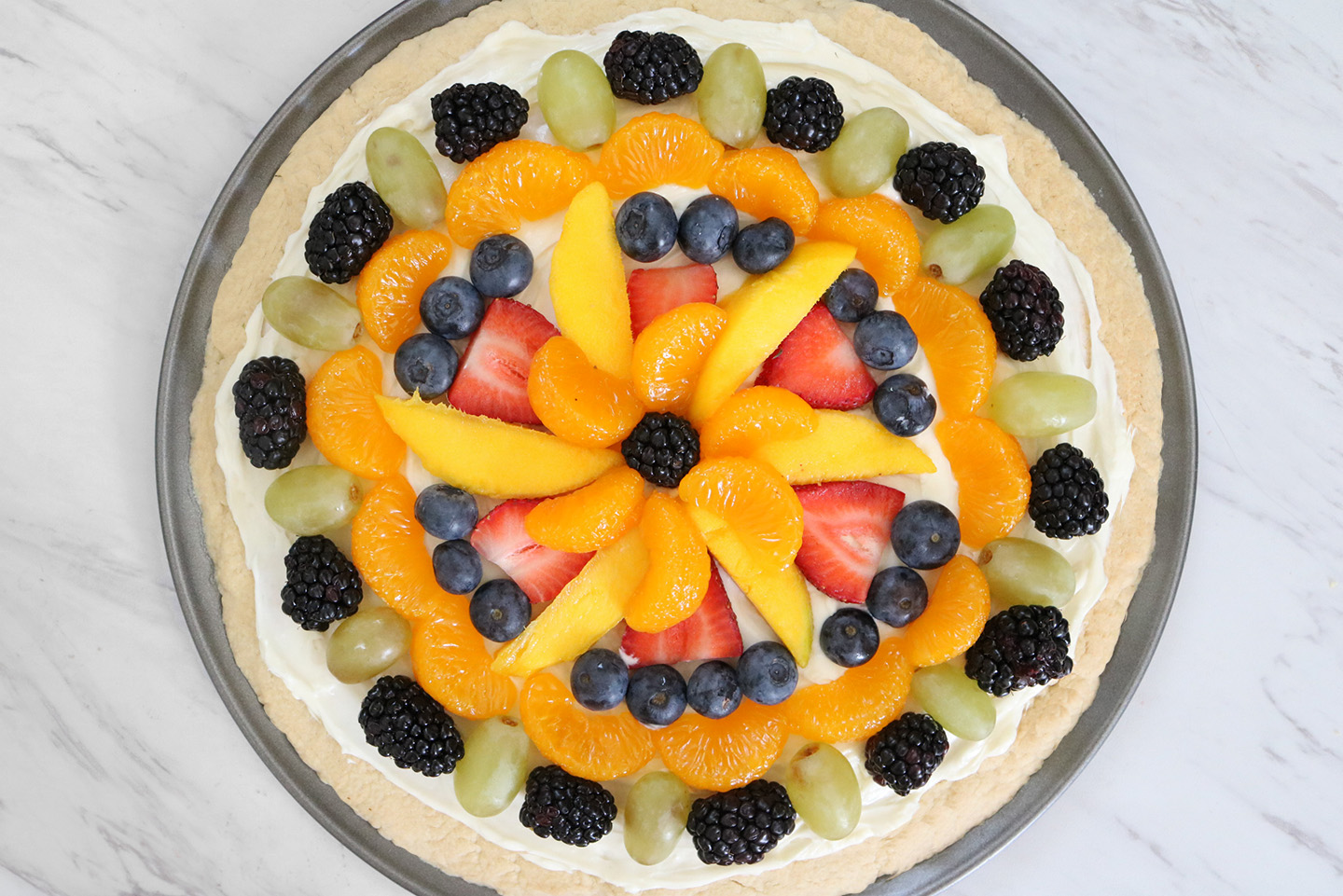 Fruit Tart Pizza Recipe