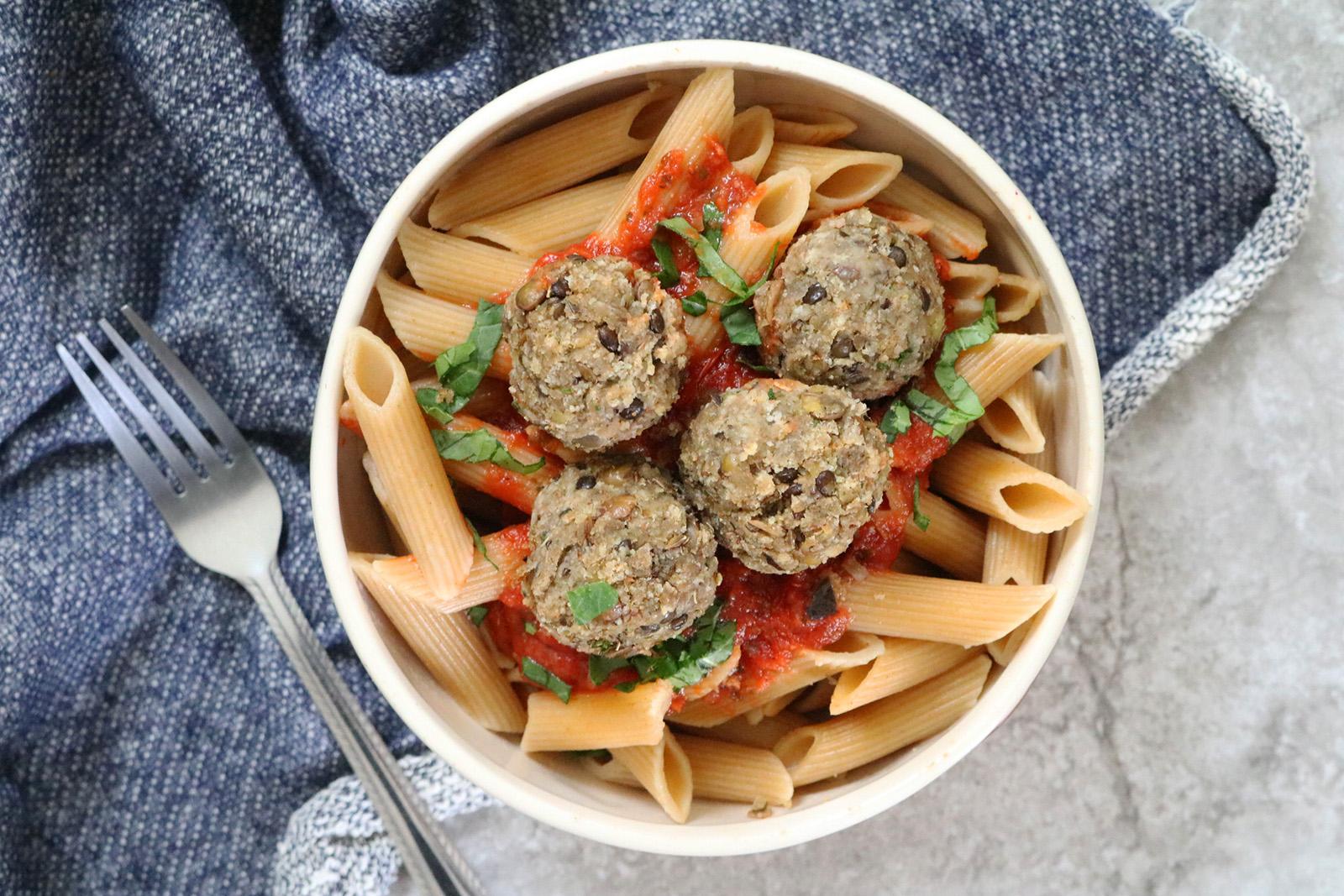 Lentil Eggplant Meatballs