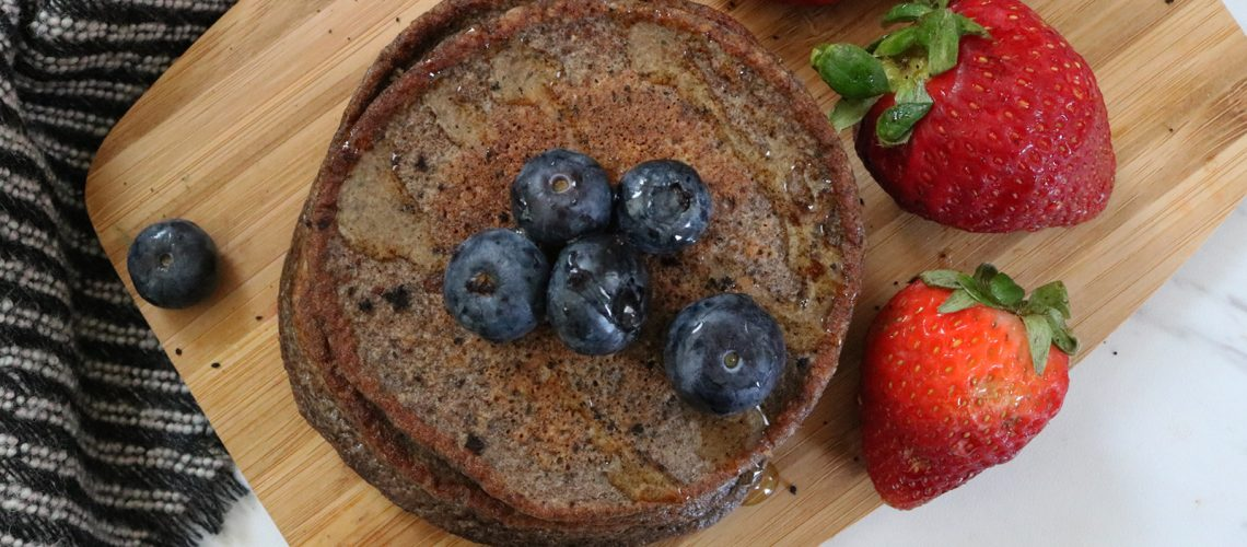 Acai Cottage Cheese Pancakes