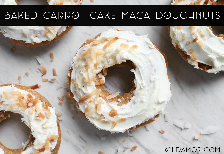 Baked Carrot Cake Maca Doughnuts Recipe